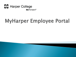 MyHarper Employee Portal - Harper College Departmental