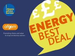 Energy Best Deal presentation