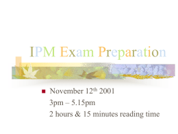 IPM Exam Preparation - Education Mailing Lists