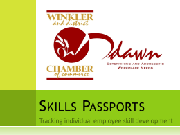 Skills Passports - Winkler and District Chamber of Commerce