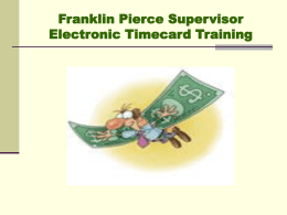 Franklin Pierce Electronic Time Card Training