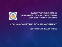 Project Delivery Systems - Civil Engineering Department