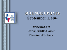 Science Update - Harris County Department of Education