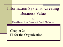 Chapter 2 – Information Technology Fundamentals