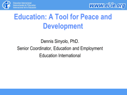 Education: A Tool for Peace