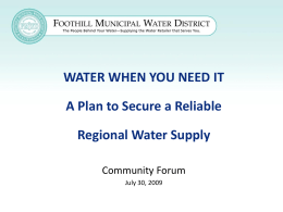 Foothill Municipal Water District