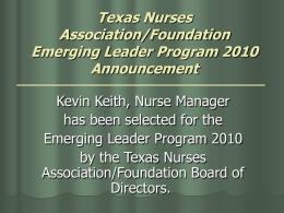 Texas Nurses Association/Foundation Emerging Leader