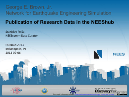 George E. Brown, Jr. Network for Earthquake Engineering