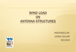 WIND LOAD ON ANTENNA STRUCTURES