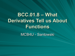 BCC.01.8 – What Derivatives Tell us About Functions