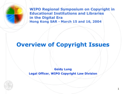 Overview of Copyright Issues