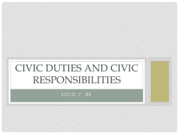 Civic Duties and Civic Responsibilities