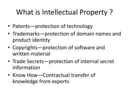 What is Intellectual Property