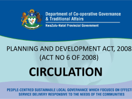 PLANNING AND DEVELOPMENT ACT, 2008 (ACT NO 6 OF 2008)