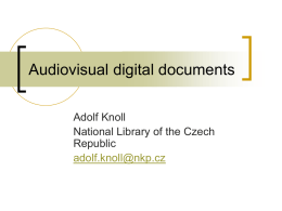 Audiovisual digital documents