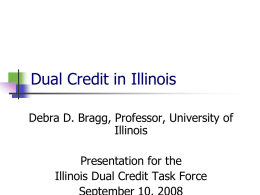 Dual Credit in Illinois - IBHE- Home