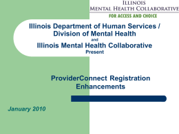 Provider Relations - Illinois Mental Health Collaborative