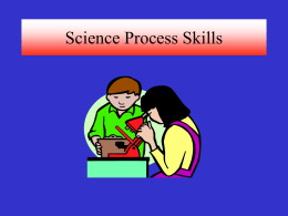 Science Process Skills - Emory Center for Science Education