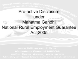 Mahatma Gandhi National Rural Employment Guarantee Scheme