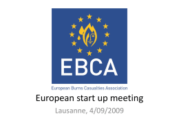 EBCA European start up meeting