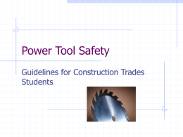 Power Tool Safety - University of Minnesota Twin Cities