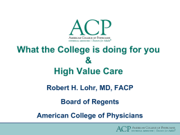 ACP Advocacy - American College of Physicians