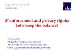 IP enforcement and privacy rights: Let's keep the balance!