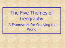 The Five Themes of Geography - Franklin Township Board of