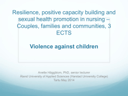 Resilience, positive capacity building and sexual health