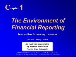 The Environment of Financial Reporting