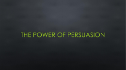 The Power of persuasion - Greenfield