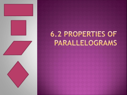 5.1 Properties of parallelograms