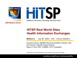 Introduction to the HITSP