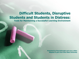 Classroom Disruption - University of Colorado Denver