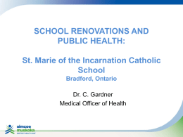 School Renovations and Public Health: ST. MARIE OF THE
