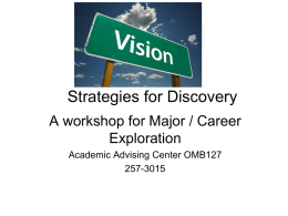 Strategies for Discovery - State University of New York at