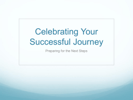 Celebrating Your Successful Journey
