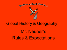 Global History & Government I