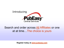 PubEasy – The totally FREE global service for Booksellers