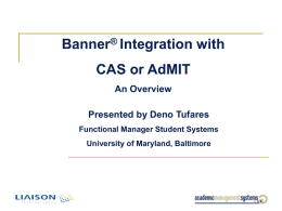 Integrating Banner and AdMIT