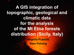 A GIS integration of topographic, geological and climatic