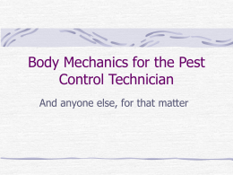 Back Safety for the Pest Control Technician
