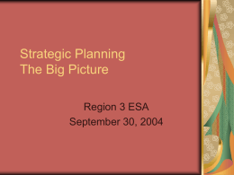 Strategic Planning The Big Picture