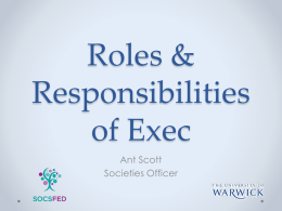 Roles & Responsibilities of Exec