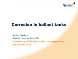 Corrosion in ballast tanks - is rust a must?