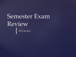 Semester Exam Review - Campbell County High School