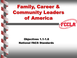 Family, Career & Community Leaders of America