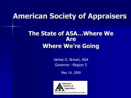 Chapter/Branch Task Force - American Society of Appraisers