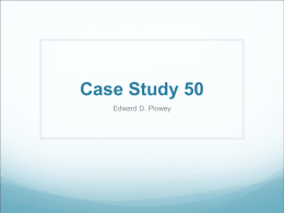 Case Study - University of Pittsburgh