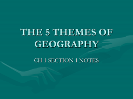 THE 5 THEMES OF GEOGRAPHY - Streetsboro City Schools